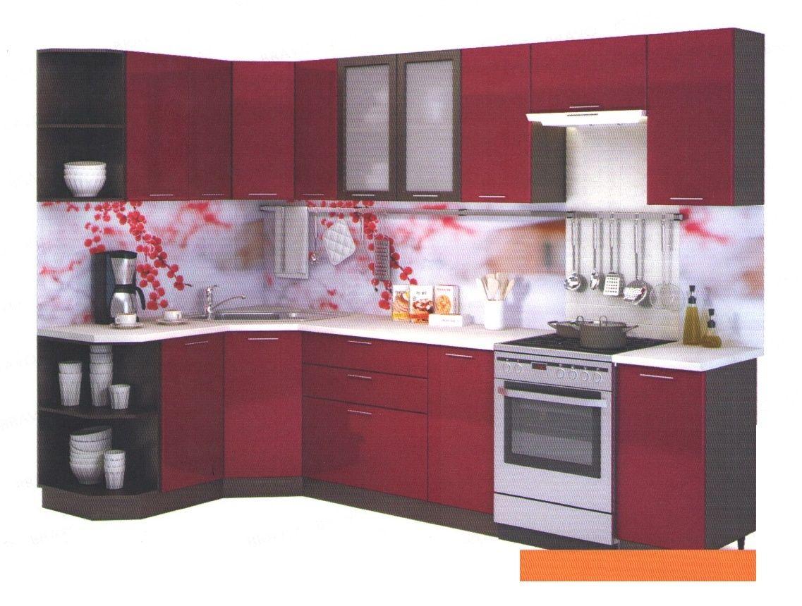 Кухня Гранатовый металлик